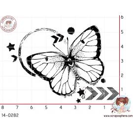 tampon-grunge-papillon-cercle-par-lily-fairy