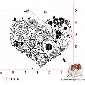 tampon-elegant-coeur-doodling-dentelle